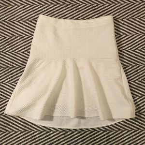 LOFT white circle skirt, NWT!!